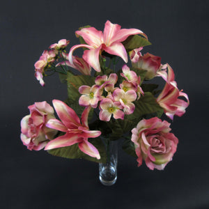 HCFL5852 - Salmon Rose/Lily Bouquet