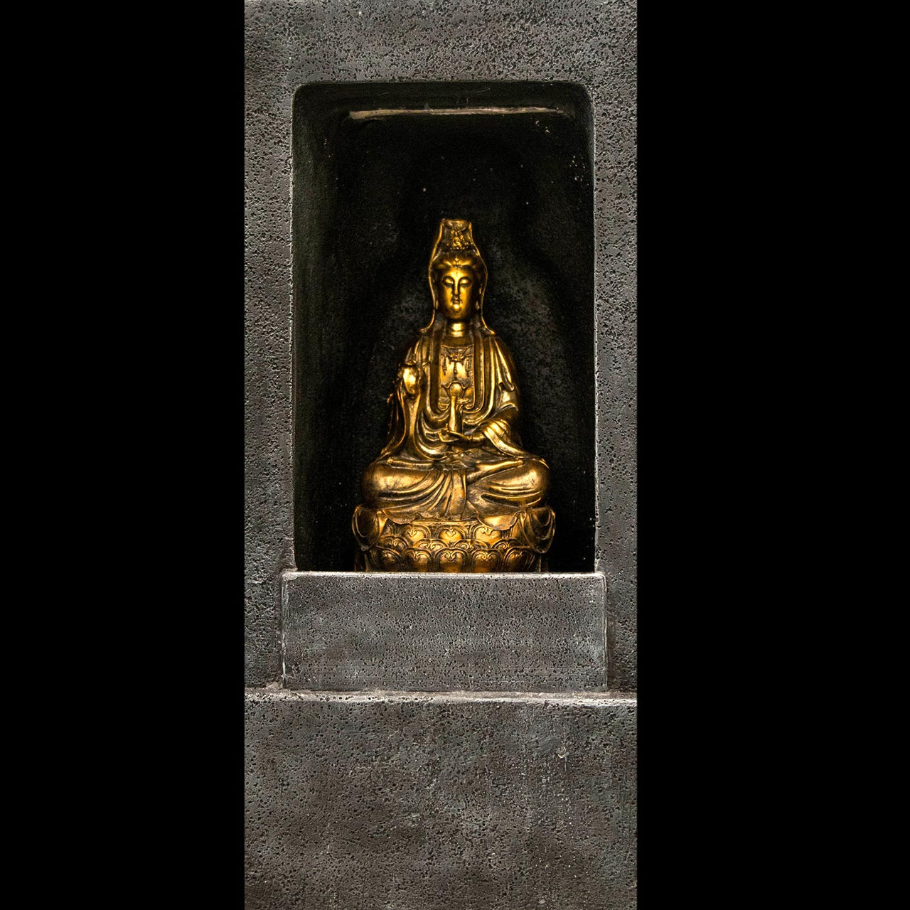 HCFT5203 - Gold Buddha in Grotto Fountain