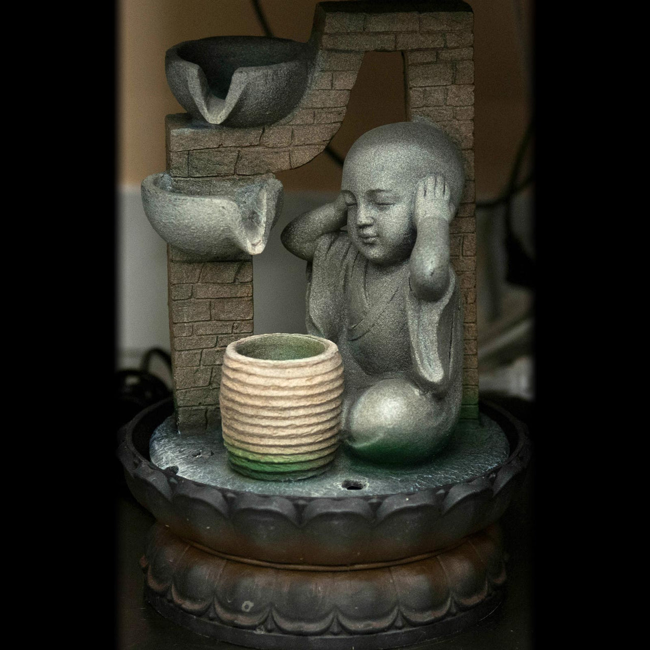HCFT5204 - Hear No Evil Buddha Fountain