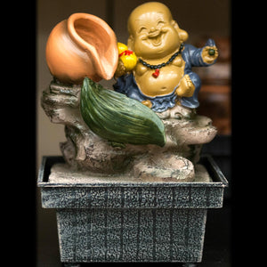 HCFT5432 - Beige Fat Buddha with Pots Fountain