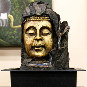 HCFT5446 - Buddha Head in Grotto Fountain