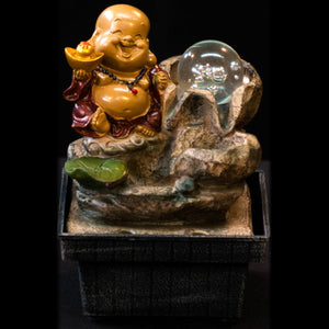 HCFT5450 - Happy Beige Buddha Fountain
