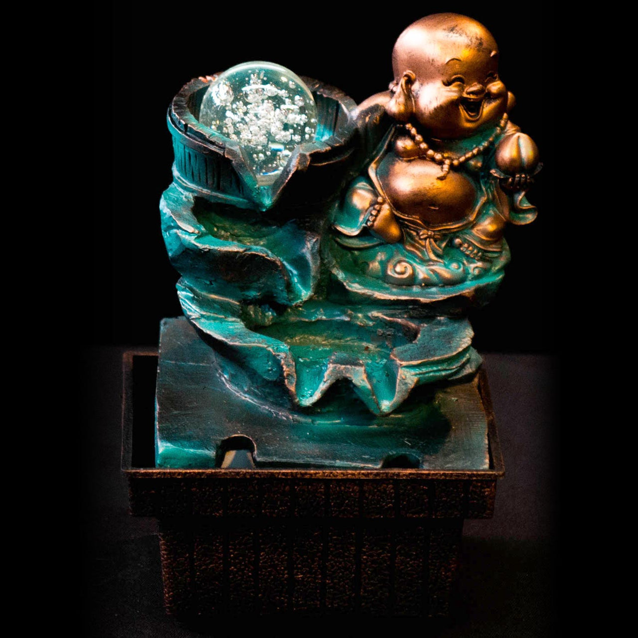 HCFT5453 - Blue Happy Buddha with Pots Fountain