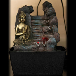 HCFT5454 - Peaceful Buddha by Rocks