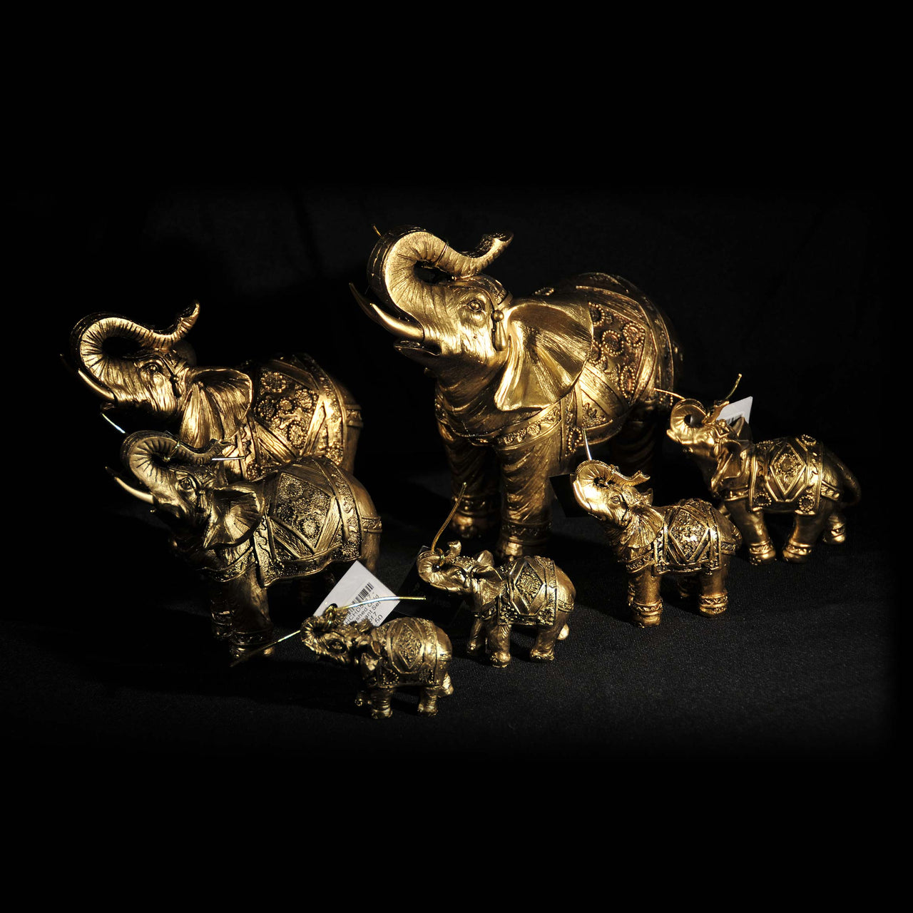 HCHD5020 - Brushed Gold Elephant Set - 4 of 7