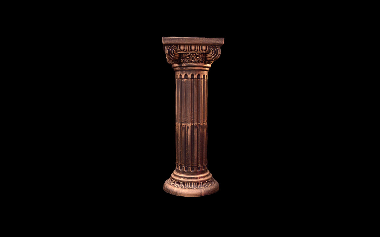 in platinum gold oop srl and zanardello ceramic products pedestal column roman