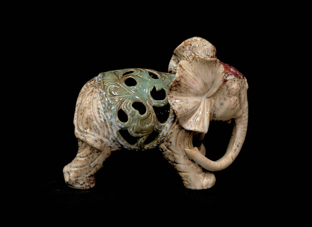 HCHD5232 - Ceramic Elephant Trunk Down