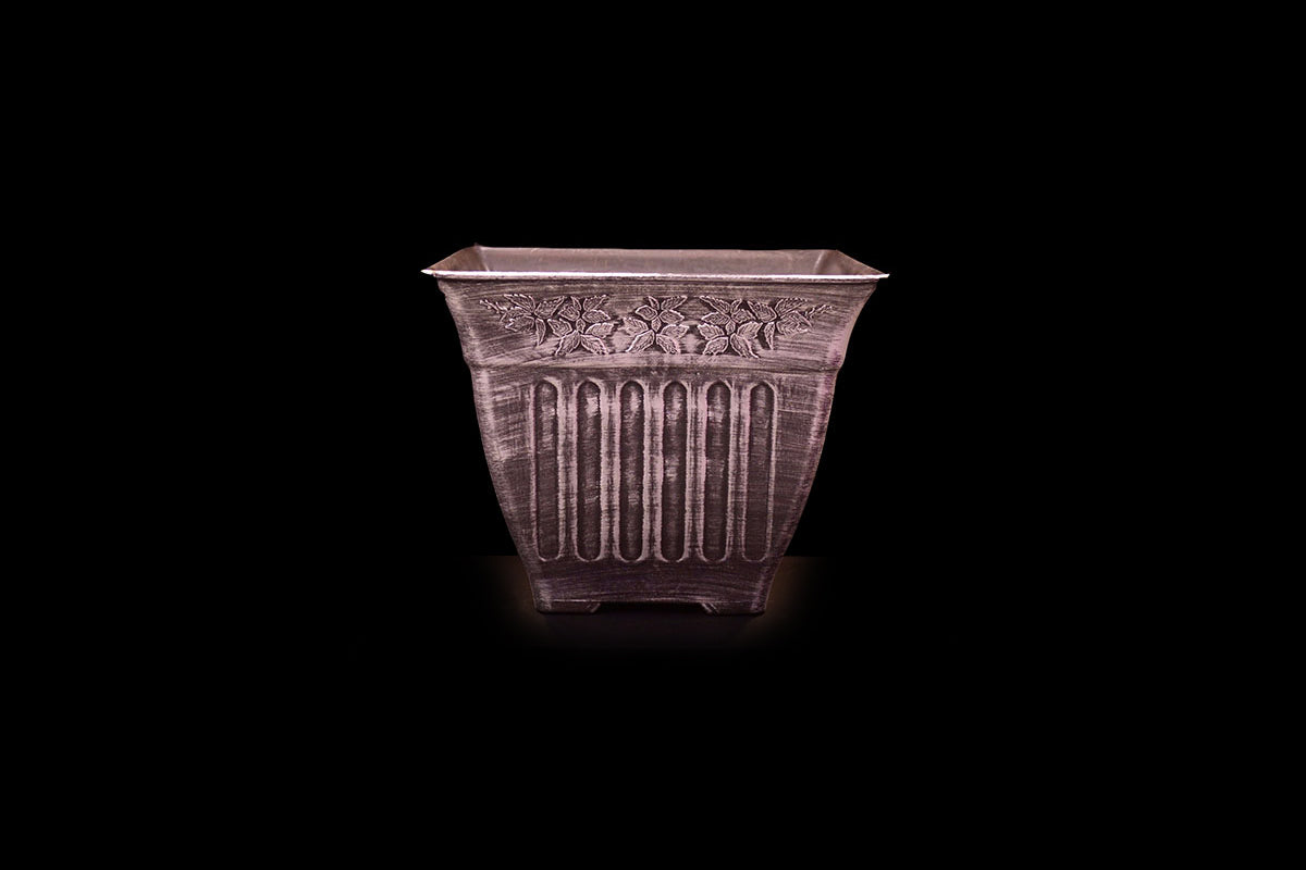 HCHD5328 - Silver Filigree Square Pot Large