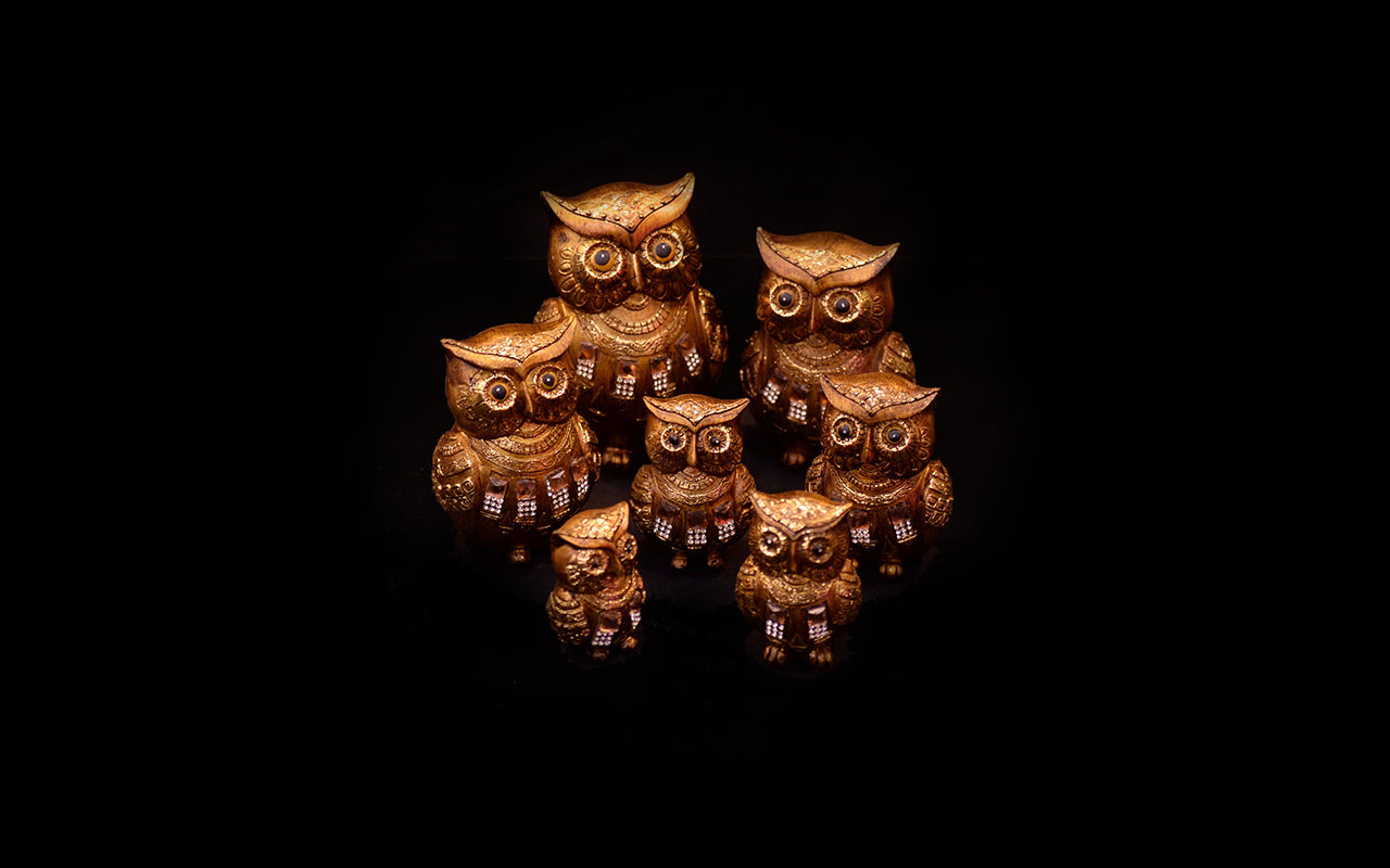 HCHD5437 - Gold Owl Set - 1 of 7