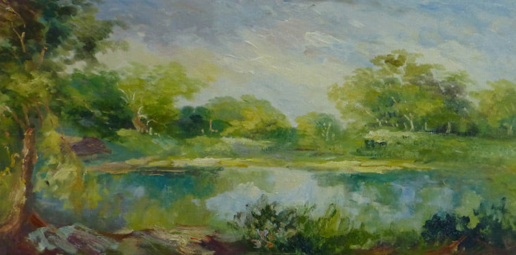 "LS3610089 - 24""x36"" Original Oil Painting"