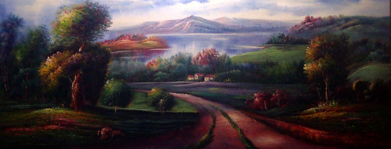 "LS6820341 - 24""x72"" Original Oil Painting"