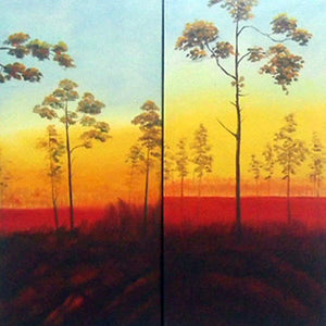LSTT19300 - Triptych Original Oil Painting