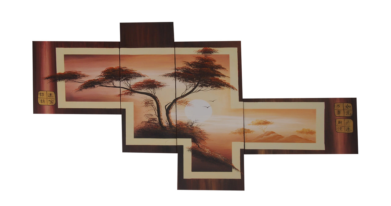 LSTT20467 - Triptych Original Oil Painting