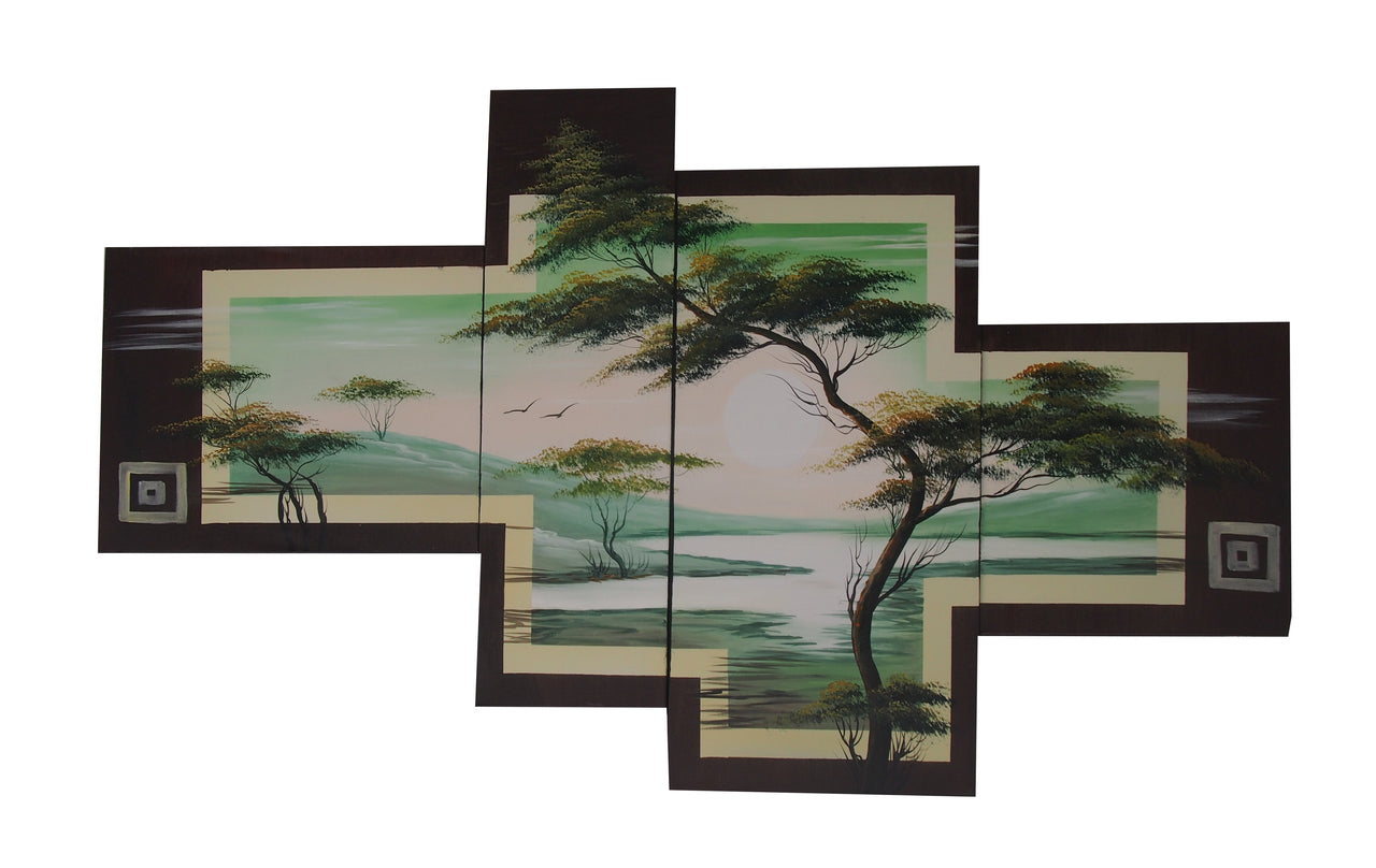 LSTT20478 - Triptych Original Oil Painting