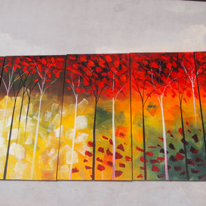 LSTT20493 - Triptych Original Oil Painting