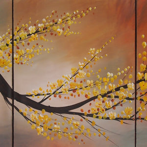 LSTT20527 - Triptych Original Oil Painting