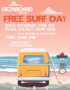 FREE SURF LESSONS- APRIL 13TH