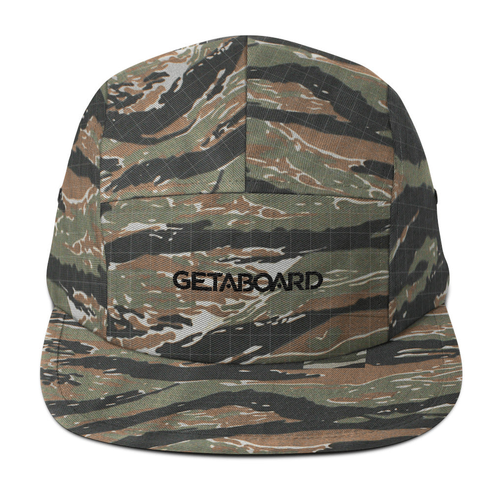 GETABOARD- Five Panel Cap- Font- BLK