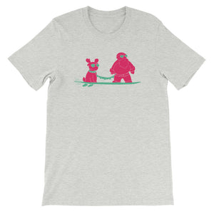 "Skatin Santa ""Surfing with the Homies"" Short-Sleeve T-Shirt"