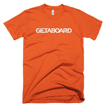 GETABOARD- Men's Short sleeve T-shirt- Font- WHT