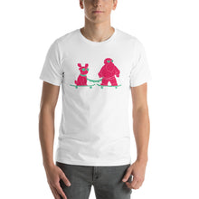 Skatin Santa Chillin with the Homie-Short-Sleeve  T-Shirt