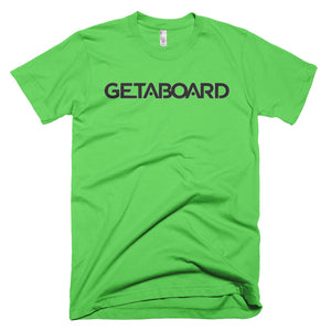 GETABOARD- MEN's Short sleeve T-shirt- Font- BLK