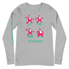 Skatin Santa-Long Sleeve Tee- Getaboard Sleeve| Bella + Canvas 3501