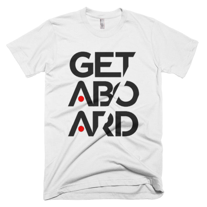 GETABOARD Stacked T-Shirt (White)