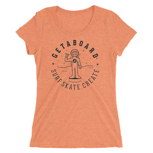 GETABOARD- Women's- Spaceman Dan- Short Sleeve T-shirt