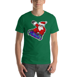Skatin Santa Launchin Short-Sleeve  T-Shirt