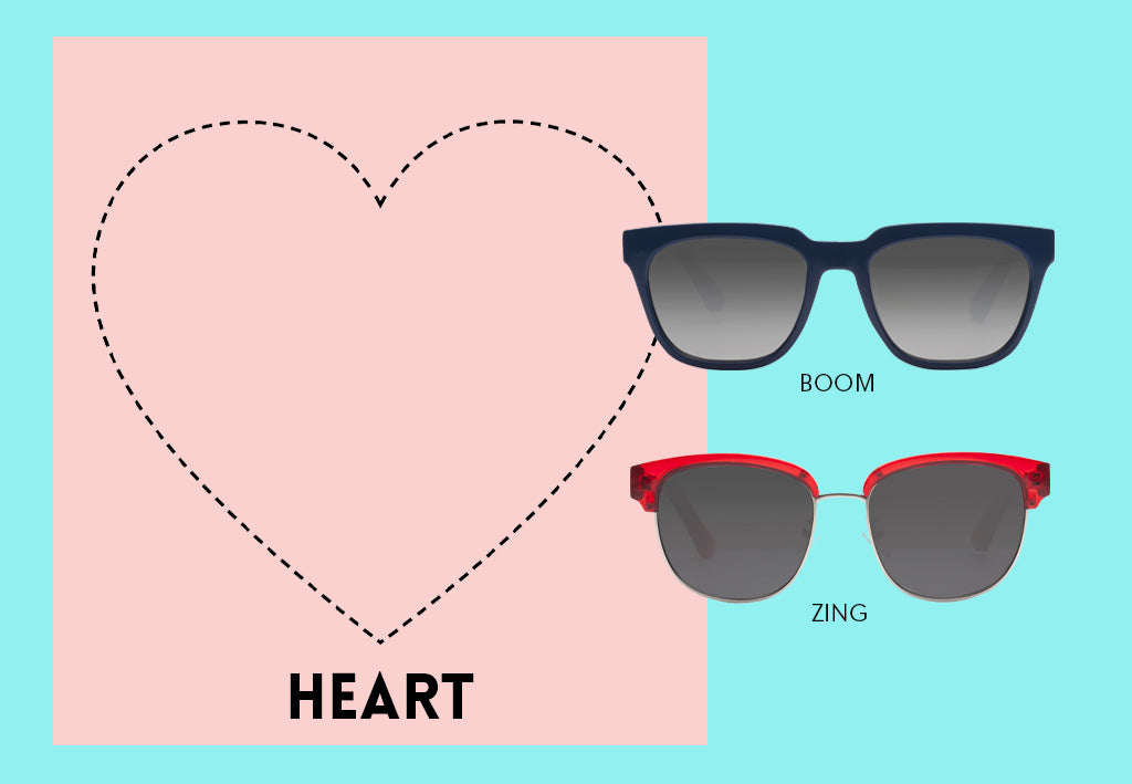 Sunglasses for Heart Face Shape
