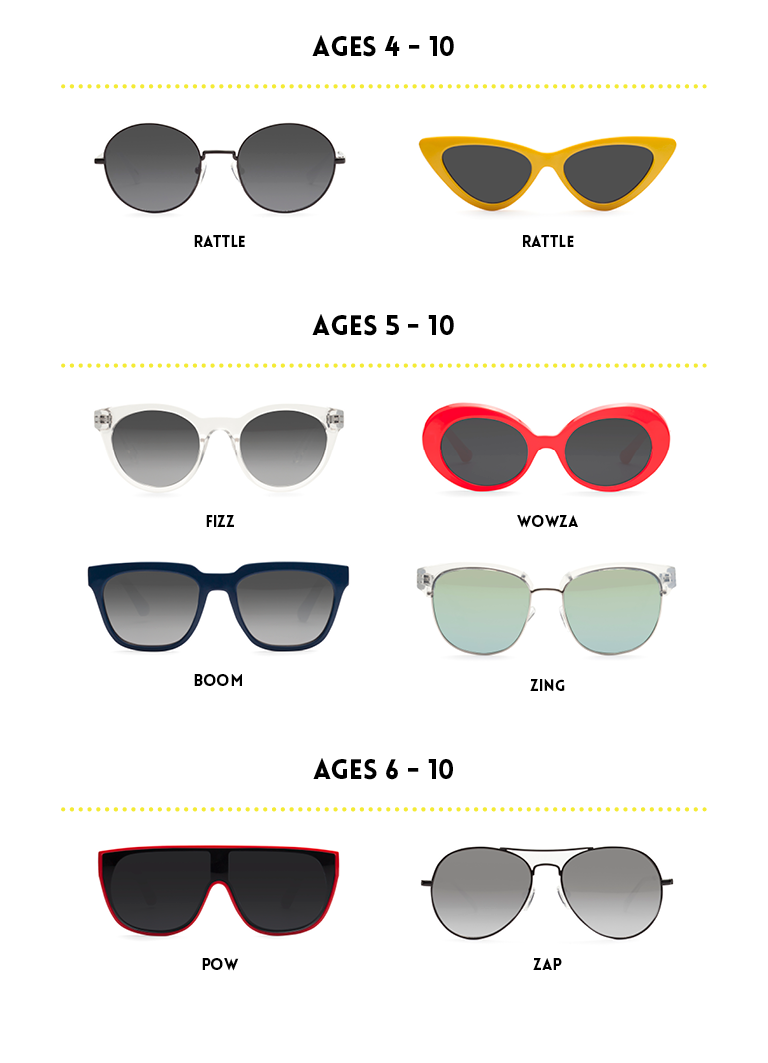 kids sunglasses size and fit guide