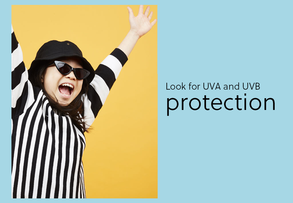 make sure your kids sunglasses have full uva and uvb protection
