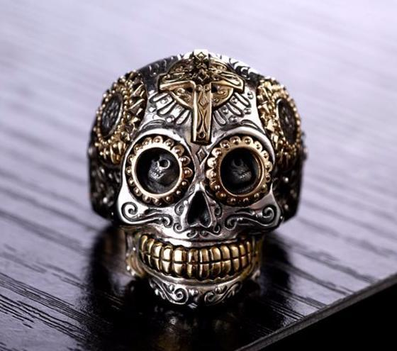 Hand Crafted 925 Sterling Silver Skull Ring