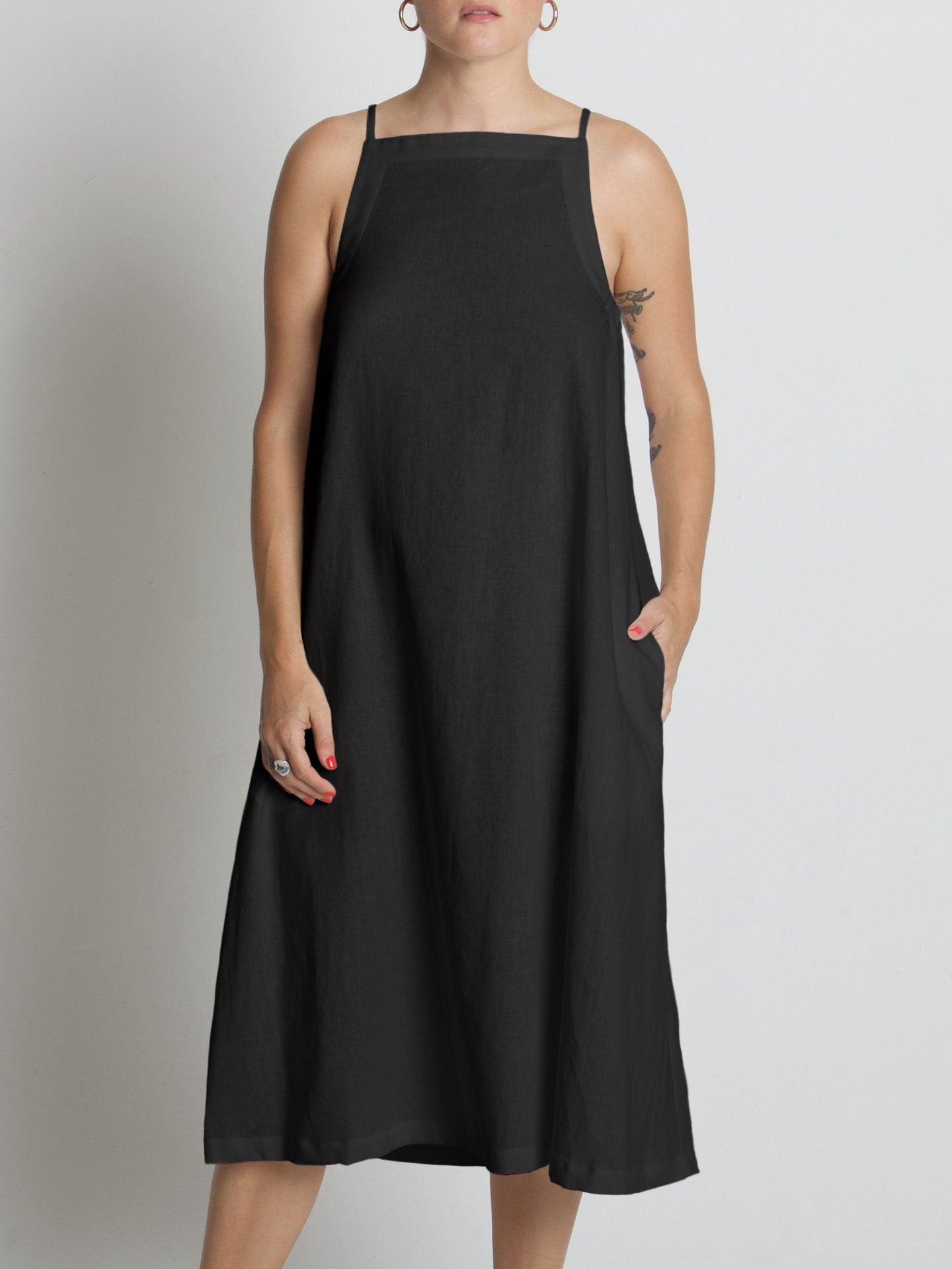 Yard Dress / Black Linen