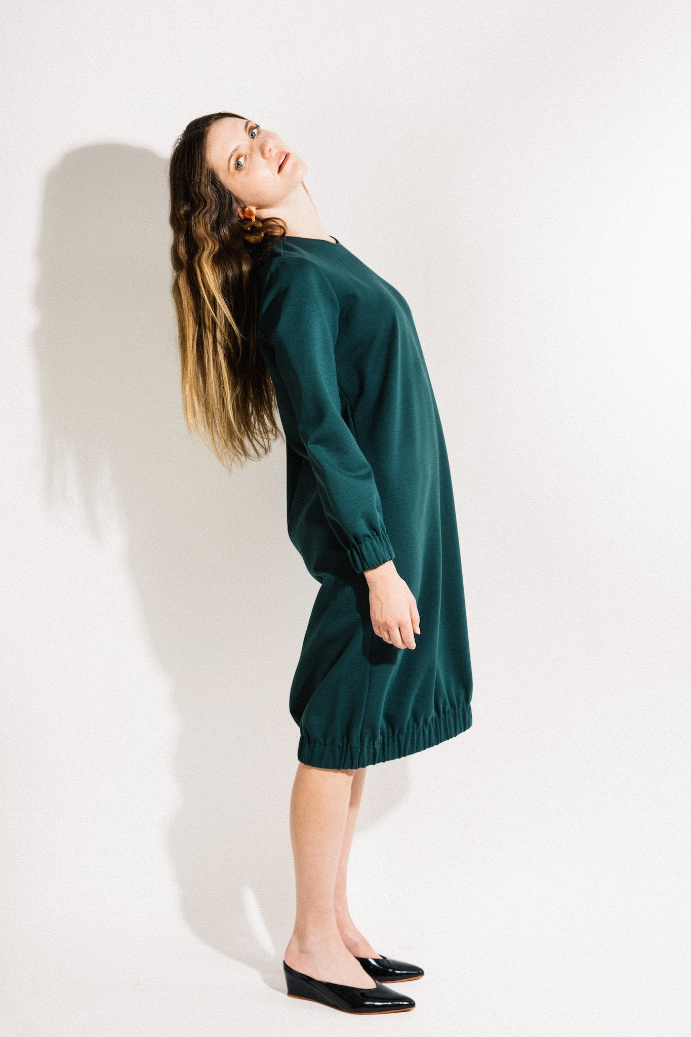 Bridge Dress / Green Ponte