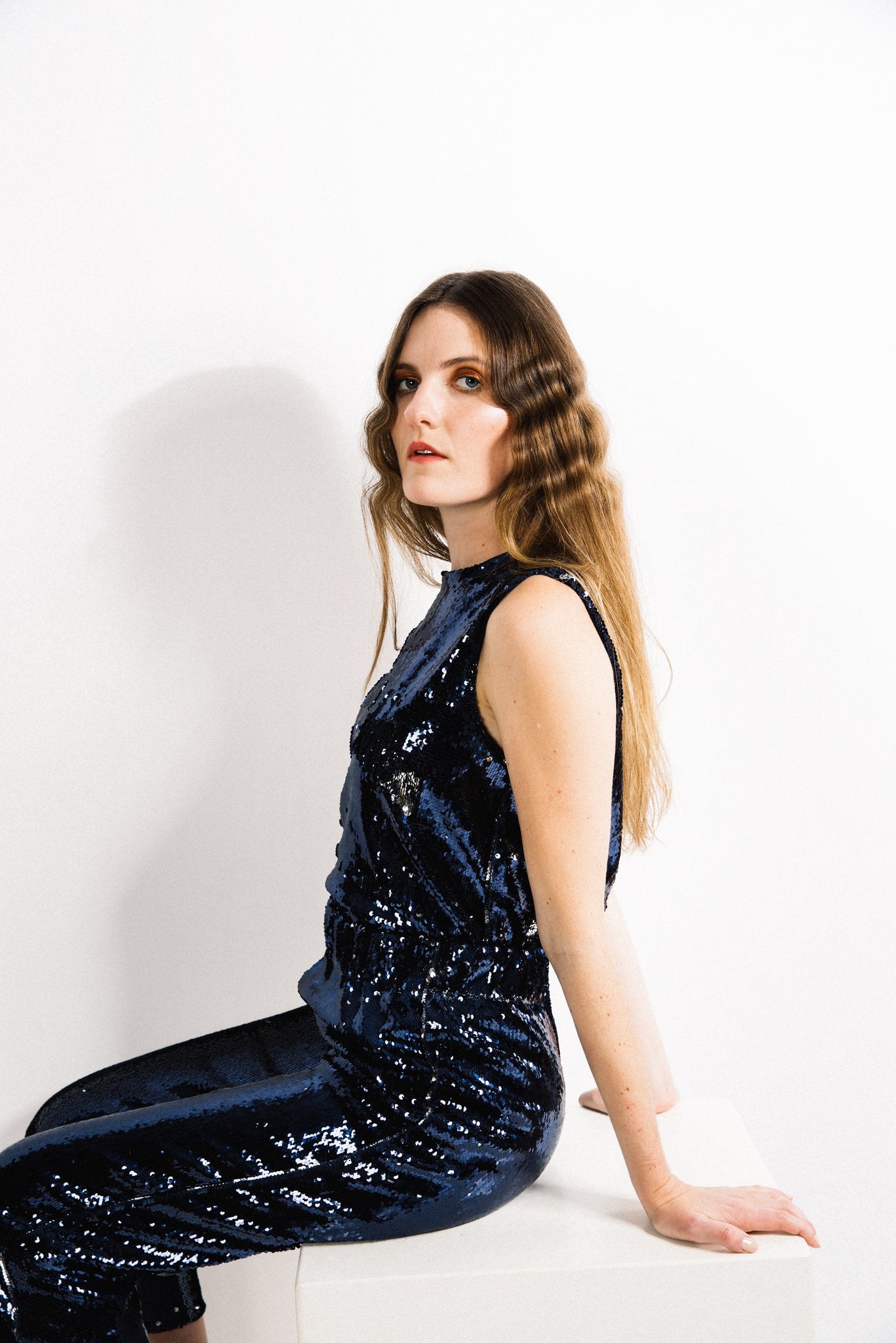 Station Tank / Navy Sequins