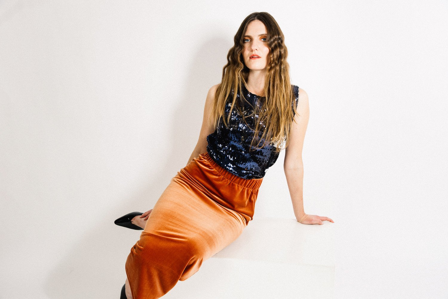 Porch Skirt / Copper Velvet