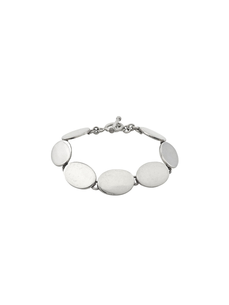 Disc Toggle Bracelet / Sterling Silver