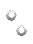 Puffed Hoop Earrings / Sterling Silver