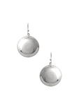 Domed Disc Earrings / Sterling Silver