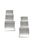 Stacked Square Earrings / Sterling Silver