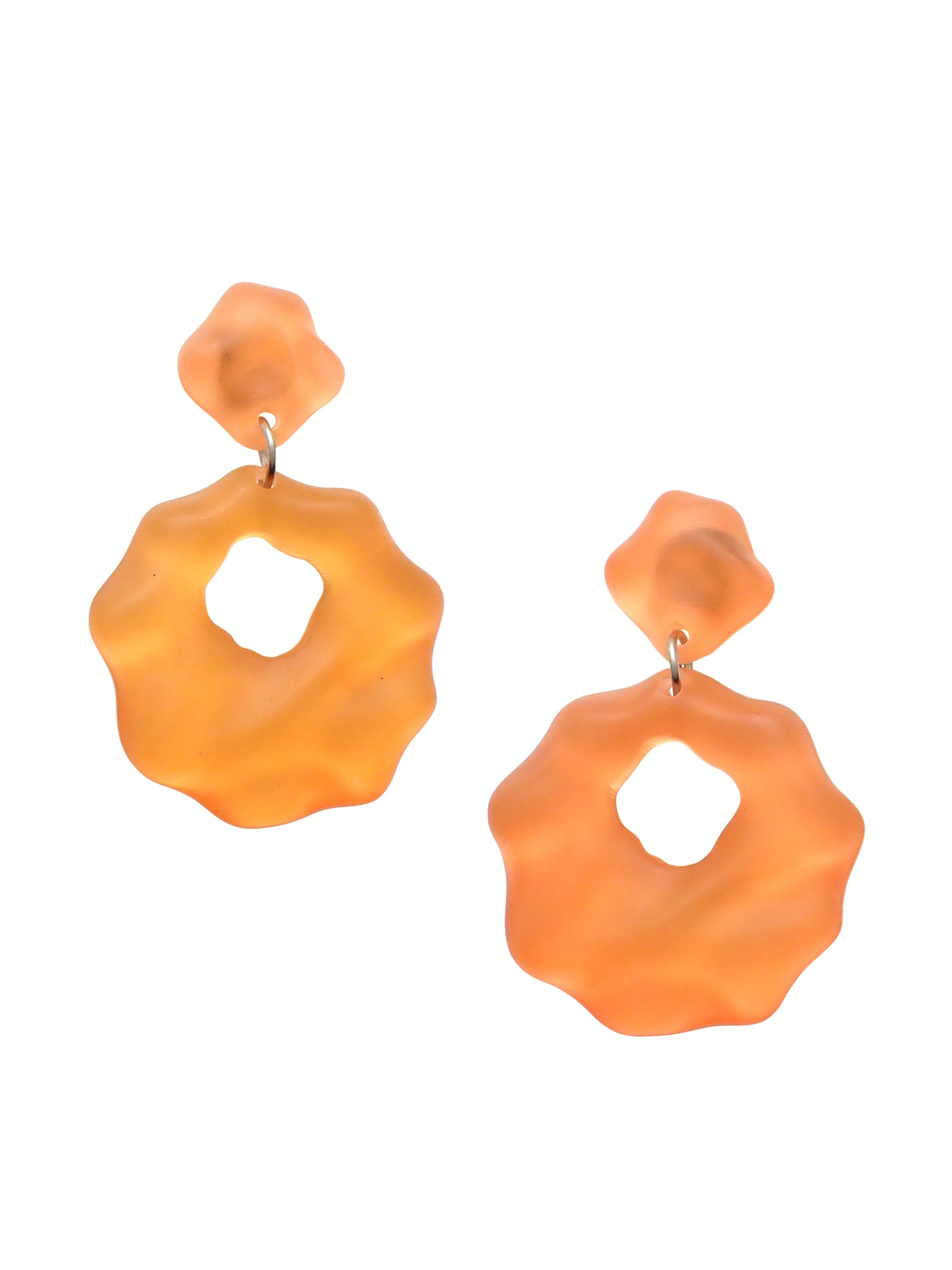 Frosted Plastic Dangle Earrings