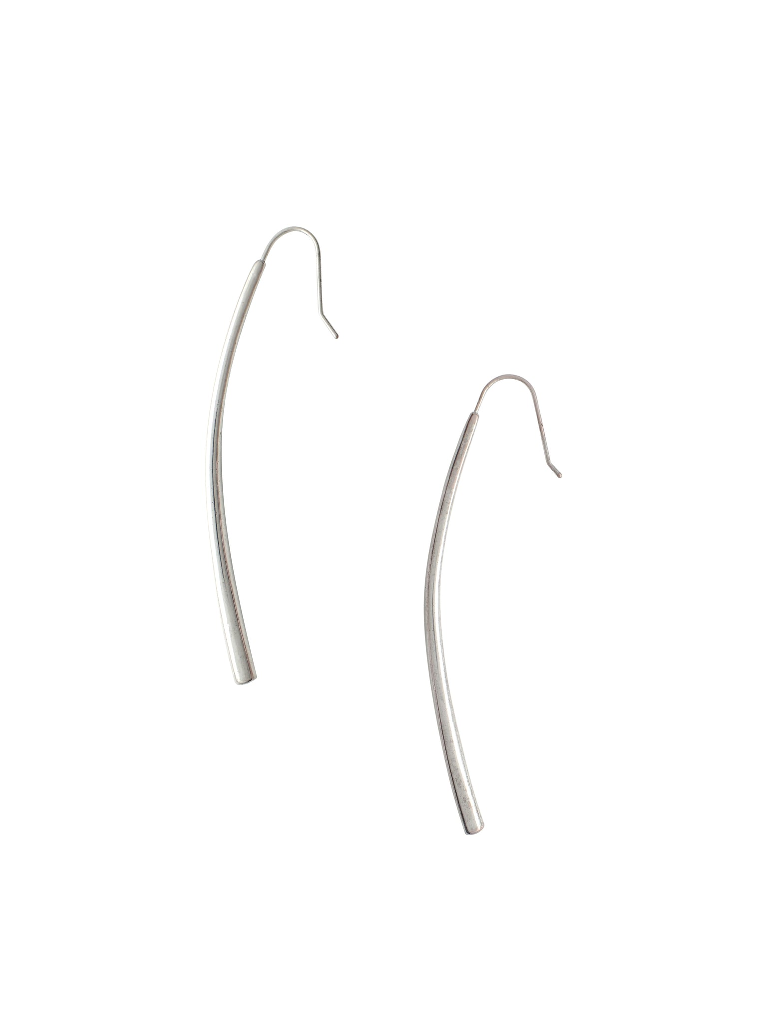 Elongated Curve Drop Earrings