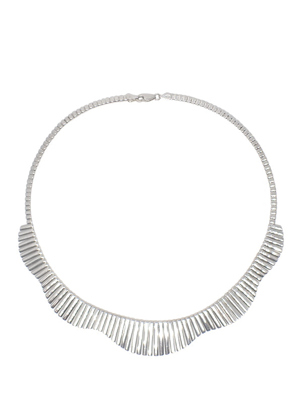 Graduated Chain Collar / Sterling Silver