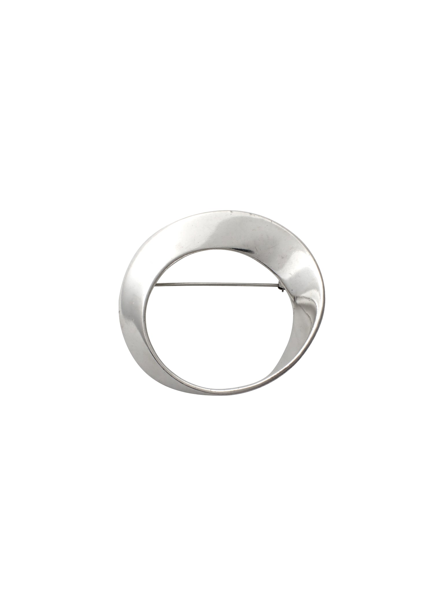 Inverted Circle Pin / Sterling Silver