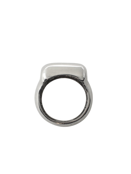 Rounded Square Signet Ring / Sterling Silver