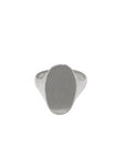 Flat Oval Signet Ring / Sterling Silver