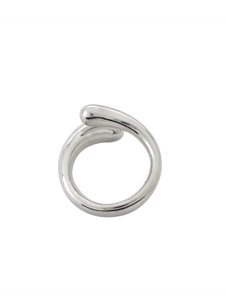 Wrap Teardrop Ring / Sterling Silver