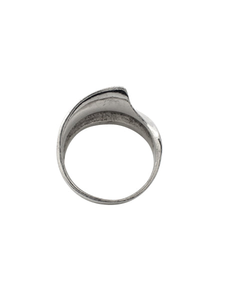 Wide Ripple Ring / Sterling Silver